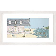 Buy Sally Swannell - Beach House Framed Print, 47 x 78cm Online at johnlewis.com