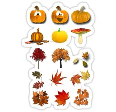 """""""Autumn fall leaf wreath sticker cartoon"""" Stickers by Epic Splash Creations Autumn Fall, Autumn Leaves, Autumn Bullet Journal, Cartoon Stickers, Happy Pictures, Happiness, Wreaths, Thoughts, Live"""