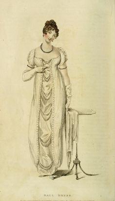 walking dress vintage fashion plate