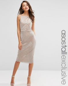 ASOS+TALL+Pencil+Dress+with+Embellished+Chevron