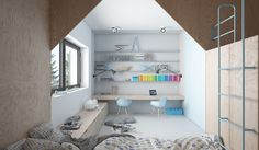 Cute Kids Bedroom Design That Full of Creative Feature
