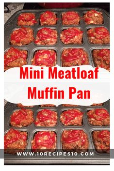 Mini Meatloaf Muffin Pan – - Recipes for dinner easy - Meatloaf Mini Meatloaf Muffins, Mini Meatloaf Recipes, Easy Meatloaf, Beef Recipes, Cooking Recipes, Meatloaf In Muffin Tin, Chicken Meatloaf, Bulk Cooking, Pastries