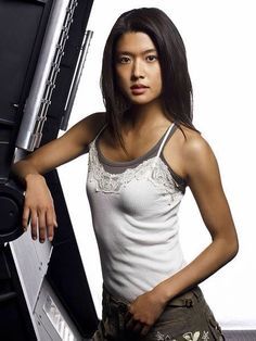 Picture: Grace Park in 'Battlestar Galactica.' Pic is in a photo gallery for Grace Park featuring 40 pictures. Battlestar Galactica, Kampfstern Galactica, Grace Park, Beautiful Asian Women, Beautiful Celebrities, Beautiful Actresses, Asian Celebrities, Park Pictures, Park Photos