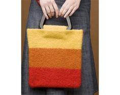 Sunset Stripe Felted Bag Pattern (Knit)