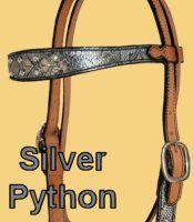 Silver Python Print HS Barrel Racing Tack, Python Print, Shoulder, Silver, Accessories, Barrel Racing, Money