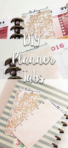 DIY Planner Tabs - So elegant and chic!
