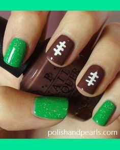 Show Your Team Spirit With These Football Nail Art Designs