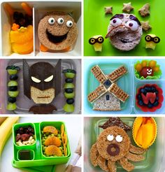 Super Cute Kids Lunch Bentos. All #vegan too!