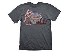 T-shirt Lakeside Amusement Park από την σειρά παιχνιδιών Silent Hill. Γκρι, κοντομάνικο t-shirt από 100% βαμβάκι, με τυπωμένο σχέδιο μπροστά.