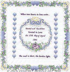 Wedding Wall Quilt - Stamped Cross Stitch Kit