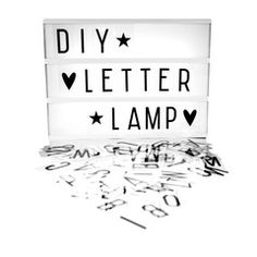 Lightbox . DIY Letter Lamp - A4