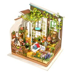 Robotime DIY Doll House Miniature With Furniture Wooden Dollhouse Toy Decor Craft Gift Dollhouse Toys, Wooden Dollhouse, Wooden Dolls, Dollhouse Miniatures, Antique Dollhouse, Decor Crafts, Wood Crafts, Diy Crafts, Home Decor