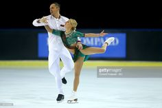 Tatiana Volosozhar and Maxim Trankov of Russia skate during the pairs short program of the ISU Grand Prix at Meriadeck Ice Rink on November 13, 2015 in Bordeaux, France.