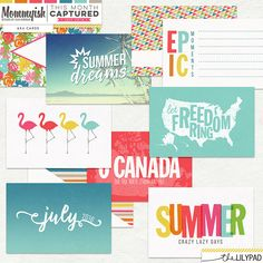 This Month Captured Journal Cards by Mommyish at The Lilypad