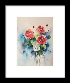 red Roses Framed Print by Britta Zehm. All framed prints are professionally printed, framed, assembled, and shipped within 3 - 4 business days and delivered ready-to-hang on your wall. Choose from multiple print sizes and hundreds of frame and mat options.