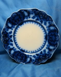 """Antique Flow Blue Florida Royal Johnson Brothers England 9"""" Plate    This is my personal pattern."""