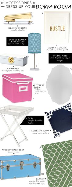 FUN Accessories To Dress Up Your Dorm Room This Fall | theglitterguide.com
