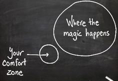 the magic happens... outside your comfort zone