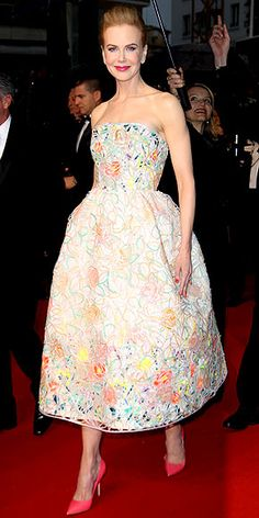 This is just soo cute i love love love this dress and the bright shoes, definatly one of my favourate for cannes. Christian dior gown Nicole Kidman
