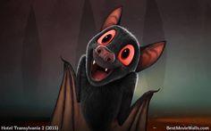 as cute as a ready for :] Get it on your mobile phone - looks amazing! Dracula Hotel Transylvania, Transylvania Movie, 3840x1080 Wallpaper, Bat Pics, Cute Jokes, Creatures Of The Night, Cute Disney Wallpaper, Halloween Bats, Cool Cartoons