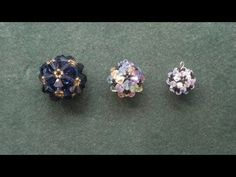 "Beading4perfectionists : ""Beaded ball"" workshop pendant for advanced beaders beading tutorial. Link download: http://www.getlinkyoutube.com/watch?v=Qb1UApbdd9U"