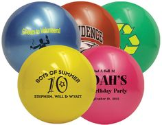 Custom printed Mini Sports Balls with your logo, graphic or message. The premier online source for custom imprinted sports-related promotional products. Sports Party Favors, Cheer Spirit, Hockey Puck, Unique Invitations, Beach Ball, Bar Mitzvah, Fundraising, Party Themes, Play