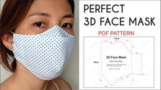 Easy Face Masks, Best Face Mask, Diy Face Mask, Small Sewing Projects, Sewing Hacks, Sewing Tutorials, Sewing Machine Projects, Dress Tutorials, 3d Face