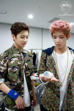 Jungkook and Taehyung<3