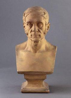 Daniel Auber (1782-1871), plaster bust (1860), by Jean-Pierre Dantan (1800-1869).