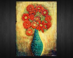 Original Contemporary Abstract Heavy Textured Art by myworldn, $159.00