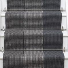 Renn stair runner in Pewter from Roger Oates Stairway Carpet, Hallway Carpet, Carpet Stairs, Curved Staircase, Staircase Design, Victorian Hallway, Hall Flooring, Edwardian House, New England Homes