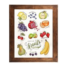 Watercolor Fruit Art Print by Alexis Mattox Design. American Made. See the designer's work at the 2016 American Made Show, Washington DC. January 15-17, 2016. americanmadeshow.com #americanmadeshow, #americanmade, #print, #watercolor, #fruit
