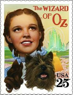Wizard of Oz postage stamp, US, 1990