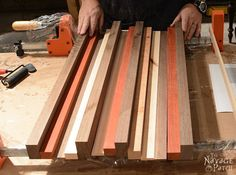 Story of A Board: End-Grain Cutting Board Tutorial and Plans Woodworking & diy Free plans Handmade cutting board Food safe varnish How to make a cutting board for using & # End Grain Cutting Board, Diy Cutting Board, Wood Cutting Boards, Woodworking Saws, Custom Woodworking, Woodworking Projects Plans, Woodworking Furniture, Wood Furniture, Popular Woodworking