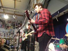 FIDLAR performing at Amoeba Hollywood January 24, 2013. Photo taken by Ariana Morgenstern via Twitter (@arianamKCRW)