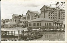 Fotografia tipo Postal Grande Hotel Araxá, Minas Gerais..