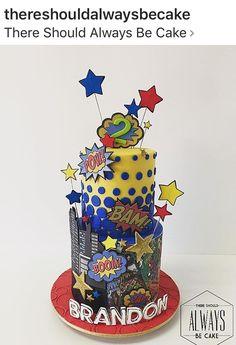 Superhero Cake, Superhero Birthday Party, Birthday Cake, Fruit Cake Watermelon, Baby Party, Themed Cakes, Amazing Cakes, Party Planning, Biscuit