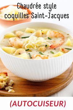La recette parfaite pour l'autocuiseur (Instant Pot)! Coquille Saint Jacques, Cantaloupe, Food, Al Dente, Cream Soups, Instant Pot Pressure Cooker, Seafood, Pisces, Cooking Food