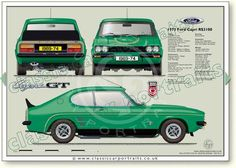 Ford Capri RS 3100 1974 classic car portrait print – My CMS Classic Mercedes, Ford Classic Cars, Best Classic Cars, Ford Capri, Car Ford, Auto Ford, British Sports Cars, Cars Uk, Classic Motors