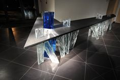 Glass Art, Scale, Dining Table, Design Ideas, Furniture, Home Decor, Weighing Scale, Decoration Home, Room Decor