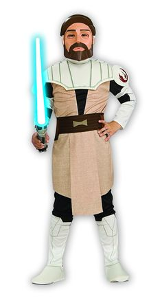 Star Wars Obi-Wan Kenobi Child's Costume, Large ** Remarkable product available now. : Kids halloween costumes