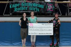 7/12/2014 CGRG vs COMO - July 12·  Taken at AC Brase Arena.    Our charity for the evening was The Arts Counsel of Southeast Missouri.  Donation of $450 presented by Bombshell Boomer!      Courtesy of Cowboy Fine Art and Modeling Photography www.capegirardeaurollergirls.com