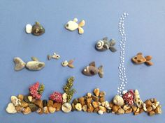 813 images about Kreativ - Rock / Stone / Pebble Art on We Heart It Stone Crafts, Rock Crafts, Arts And Crafts, Deco Marine, Pebble Pictures, Rock And Pebbles, Rock Design, Sea Glass Art, Seashell Crafts