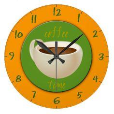 Coffee Time Wall Clock #coffee