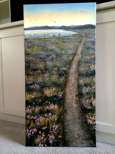 """""""The Peaceful Path"""" (22"""" by 36"""" acrylic on canvas)"""