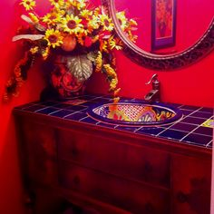 My red powder room!