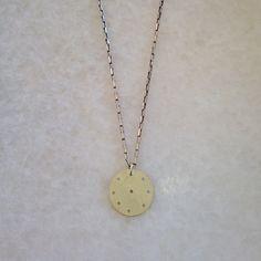 Sun Disc on Silver Chain – Eran Naylor Jewellery