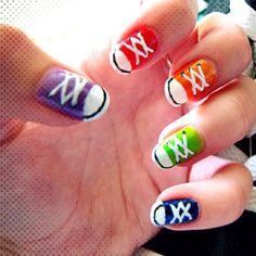 Converse nails nailpolish nail