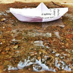 I think i'm moving but i go nowhere - #OneRepublic  Neha Ke Posts @nehatweeted @Nehas Picks  id - @nehasclicks #II #InstagramersInc #Instagram #DIY #paperboats #kids #children #fun #memories #nostalgia #ship #sail #boats #boat