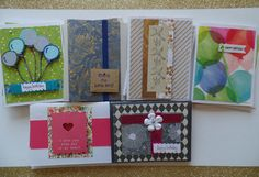 Assorted Greeting Cards, Card Assortment, Card Set, All Occasion Cards, Handmade Cards, Celebrations, Blank Inside, Birthday, Sympathy by SaraPaperCards on Etsy